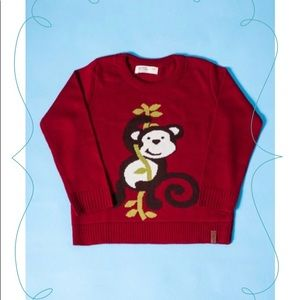 Boys monkey crewneck pullover / sweater